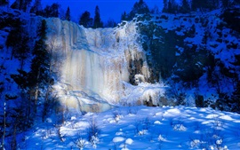 Preview wallpaper Korouoma, Finland, snow, waterfall, winter, ice