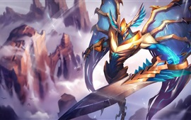 League of Legends, angel, warrior
