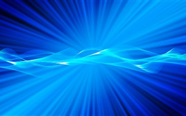 Preview wallpaper Light rays, blue style, abstract