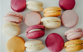 Preview wallpaper Macaroons, almond biscuits, food, colors