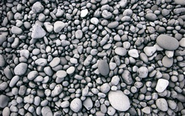 Many stones, black and white picture