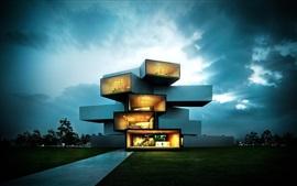 Casa moderna, diseño creativo