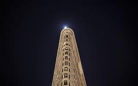 Nueva York, Manhattan, EE. UU., Edificio, noche