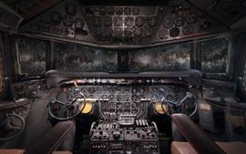 Aperçu fond d'écran Cabine d'avion, fenêtres, étoilé