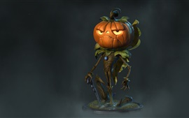 Preview wallpaper Pumpkin monster, Halloween