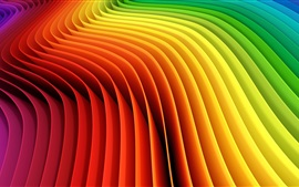 Preview wallpaper Rainbow colors, curves, abstract