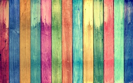 Preview wallpaper Rainbow colors wood board background
