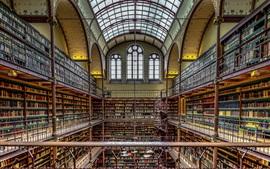 Aperçu fond d'écran Rijksmuseum, bibliothèque, Amsterdam, Pays-Bas