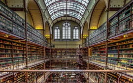 Preview wallpaper Rijksmuseum, library, Amsterdam, Netherlands