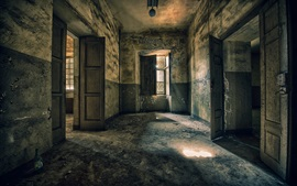 Комната, двери, руины