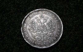 Preview wallpaper Silver coin, currency, Ruble, Russian