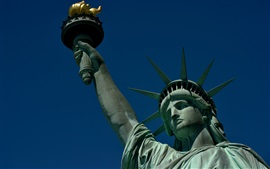 Preview wallpaper Statue of Liberty, New York, USA, crown, torch, blue sky