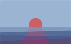 Preview wallpaper Sunset, sea, abstract picture