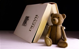 Preview wallpaper Toy bear and book
