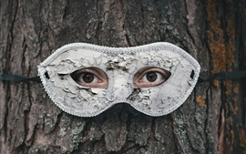 Preview wallpaper Tree, eyes, mask