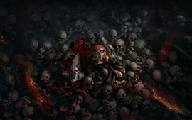 Warhammer 40000: Dawn of War, черепа, игры