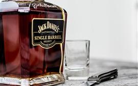 Aperçu fond d'écran Whisky, tasse, couteau