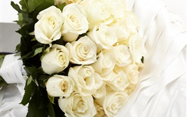 Preview wallpaper White roses, bouquet