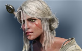 Preview wallpaper Witcher 3: Wild Hunt, Cirilla, white hair girl