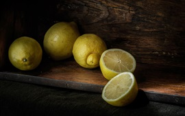Preview wallpaper Yellow lemons, fruit close-up
