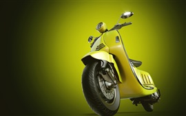 Preview wallpaper Yellow motorcycle