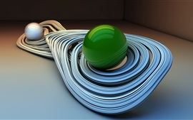 Abstract curves and balls