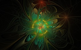 Preview wallpaper Abstract design, green style background