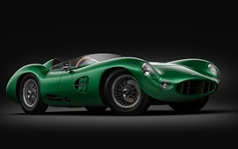 Preview wallpaper Aston Martin DBR1 green sports car