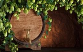Preview wallpaper Barrel, beer, hops, tap