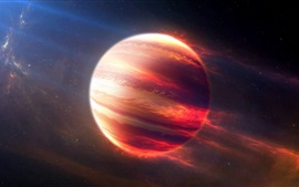 Preview wallpaper Beautiful Jupiter, cosmos, digital art, red planet, stars