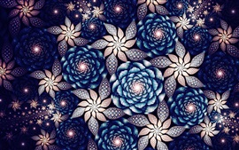 Beautiful flowers, abstract fractals patterns