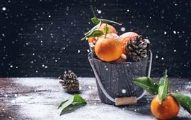 Preview wallpaper Bucket, citrus, snowy