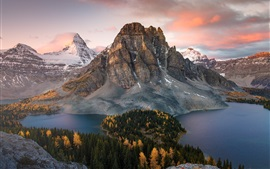 Preview wallpaper Canada, mountains, lake, forest, autumn