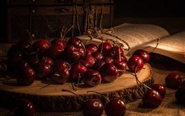 Preview wallpaper Cherries, book