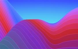 Aperçu fond d'écran Courbes colorées, abstrait
