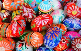 Preview wallpaper Colorful painted eggs, Happy Easter