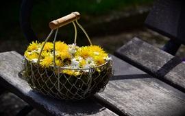 Margarita, cesta de flores