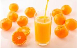 Delicioso suco de laranja, bebidas