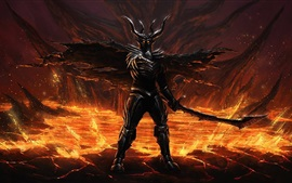 Preview wallpaper Evil, devil, armor, art drawing