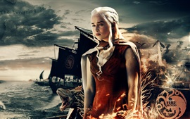 Preview wallpaper Game of Thrones, A Song of Ice and Fire, TV series, Daenerys
