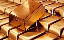 Aperçu fond d'écran Barres d'or, métaux précieux
