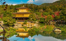 Preview wallpaper Golden Pavilion, temple, garden, Kyoto, Japan
