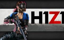 Aperçu fond d'écran H1Z1 jeu, fille, masque, arme