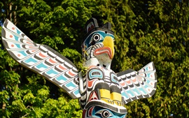 Preview wallpaper Indian, totem pole