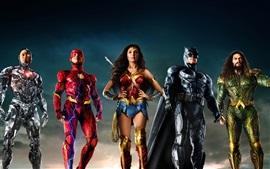 Preview wallpaper Justice League, DC Comics movie, superheroes