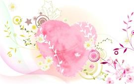Coeur d'amour, style rose, photo d'art