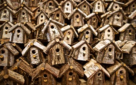Many birdhouses