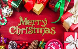Preview wallpaper Merry Christmas, gifts, decorations