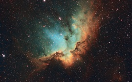 Preview wallpaper NGC 7380, Wizard Nebula, stars, universe