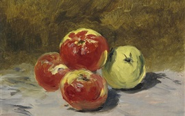 Oil painting, fruit, apples